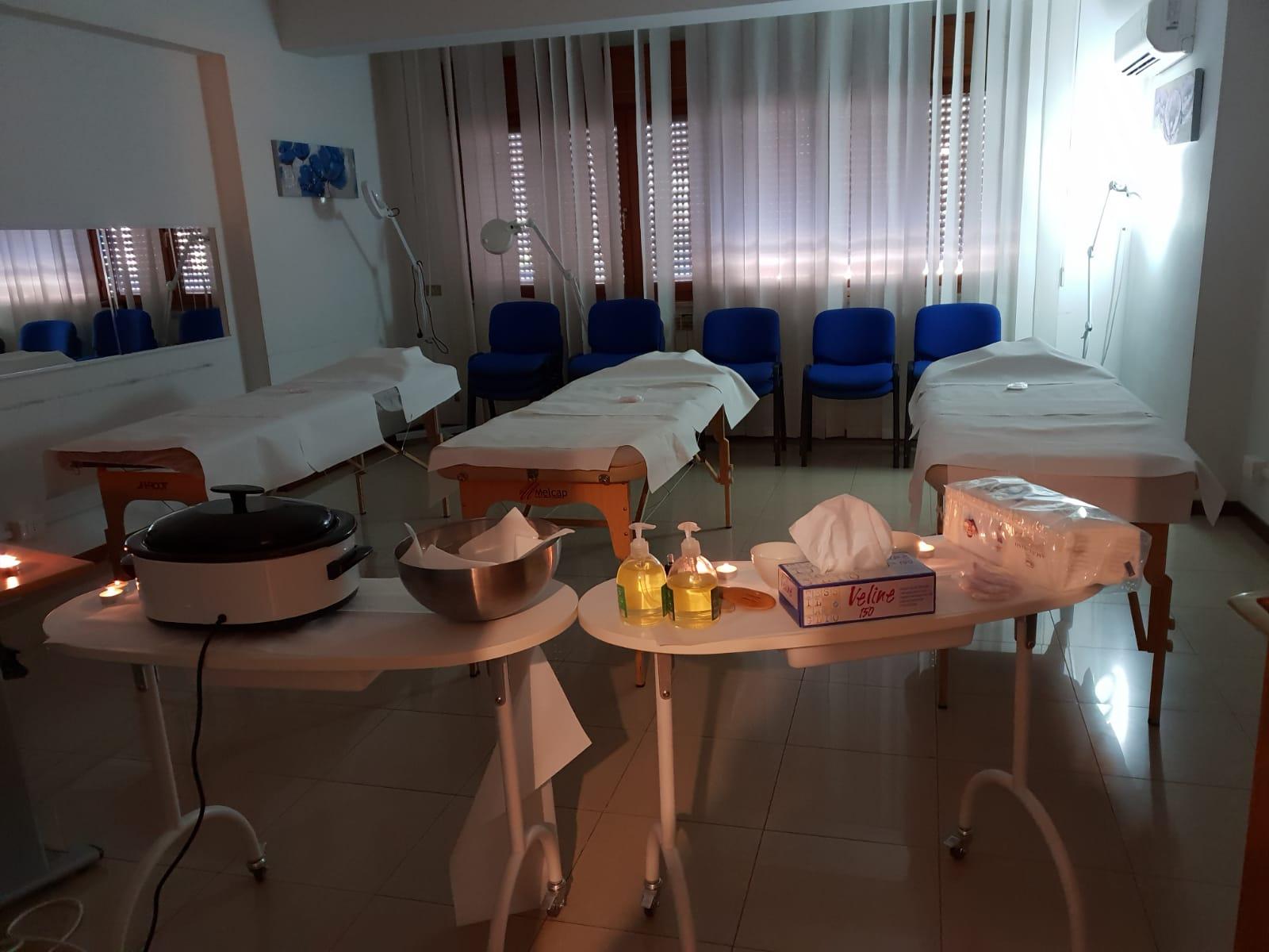 Sala pratica Massaggi del Corso Massaggi a Palermo e Messina